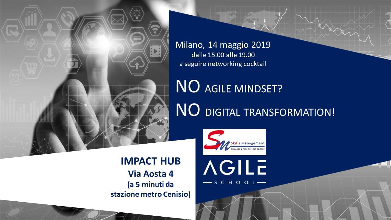 NO agile mindset?<br>NO digital transformation!!